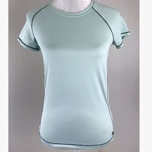 ALO Yoga Tops - ALO YOGA Short Sleeve CoolFit Workout Blue Tee