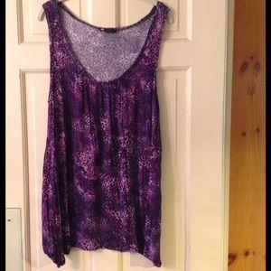 Carole Little Tops - Carole Little purple animal print sleeveless tee