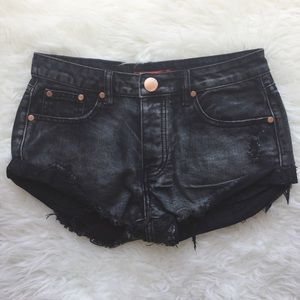clmayfae Pants - MIDNIGHT Black Denim Shorts