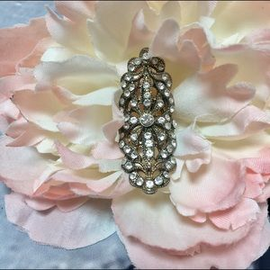 Jewelry - Gold Rhinestone Large Statement Ring
