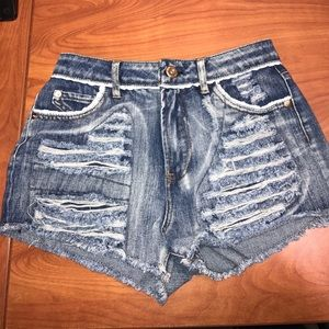 Highway Jeans Pants - Distressed Jean Shorts