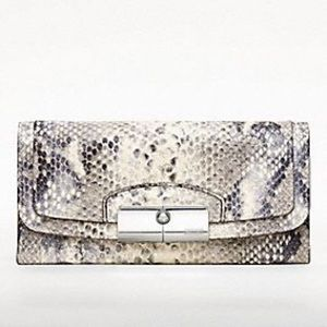 Coach Handbags - Coach Kristin Embossed Python Slim Envelope Wallet
