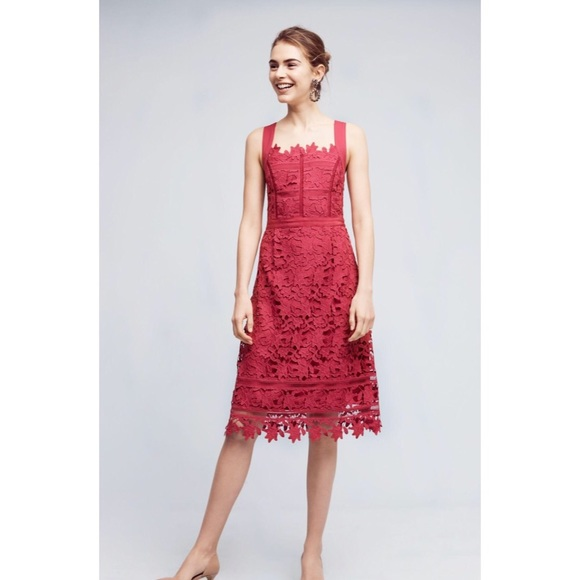 Anthropologie Dresses & Skirts - Anthropologie HD in Paris raspberry dress size 12