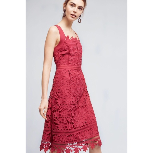 Anthropologie Dresses - Anthropologie HD in Paris raspberry dress size 12