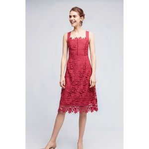 Anthropologie HD in Paris raspberry dress size 12