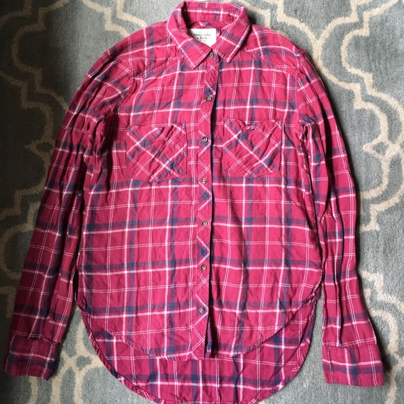 Abercrombie Fitch Abercrombie Red White Blue Plaid
