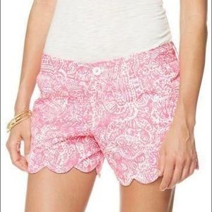 Lilly Pulitzer Buttercup Shorts- Get Crackin'