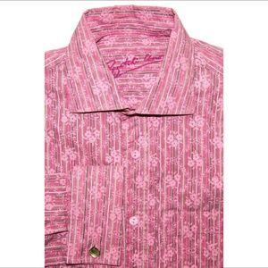 Bugatchi Other - BUGATCHI UOMO French cuff dress shirt Pink floral
