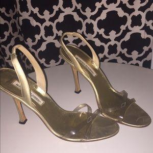 Manolo Blahnik Shoes - Vintage Manolo Blahnik Perspex Strappy Sandals