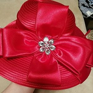 Do Re of New York/Paris Accessories - Beautiful Dress hat special occasion red hat, NWT