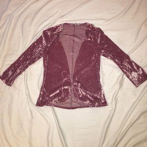 Express Jackets & Coats - Velvet Vest