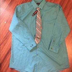 jf j.ferrar Other - J.Ferrar Slim dress shirt and Tie combo. NWT