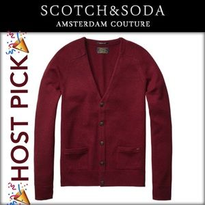 Scotch & Soda Other - 🎉HP🎉Burgundy Button Cardigan