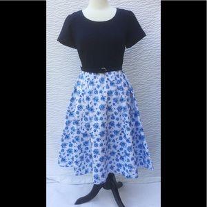 eshakti Dresses & Skirts - New Eshakti Floral Fit & Flare Dress M 10