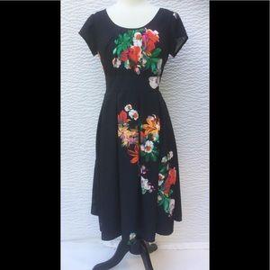eshakti Dresses & Skirts - New Eshakti Floral Crepe Fit & Flare Dress L 12