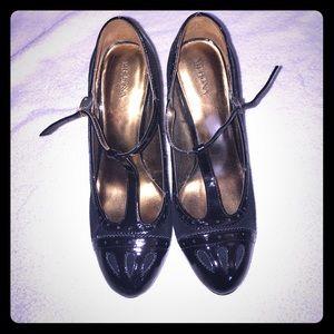 Black Merona Mary Jane Pumps Size 8 1/2