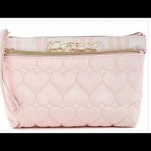 Betsey Johnson Handbags - NWT Betsey Johnson Blush Pink Trapezoid Wristlet
