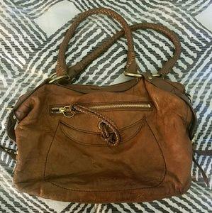 Handbags - Brown leather shoulder bag