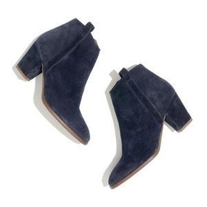 Madewell Shoes - Madewell Billie Boot in Navy Blue Suede