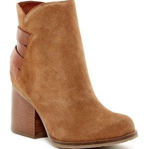 MIA Shoes - MIA Genessa Tan Suede Booties