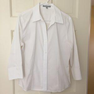Foxcroft Tops - Foxcroft Non-Iron Blouse in White