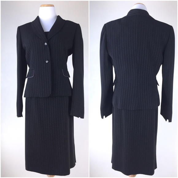 657a5bdbee7c7 Tahari Other | Asl Size 8 Pin Striped 3 Pieces Suit Set | Poshmark
