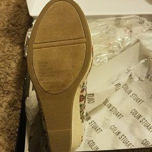 Colin Stuart Shoes - Final $ Drop! Colin Stuart Floral Peep Toe Wedges