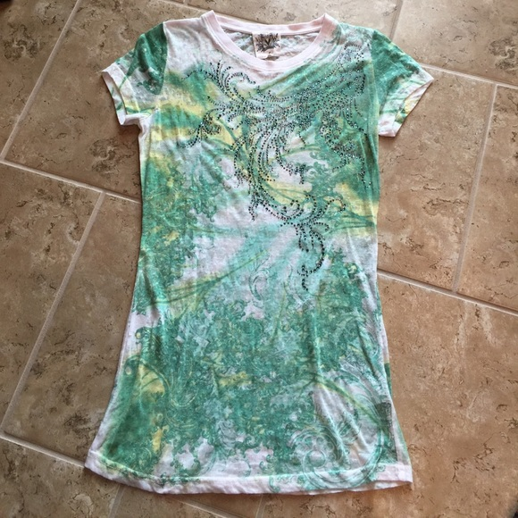 Miss Me Burnout Embellished Top