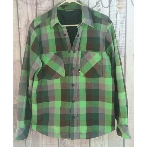 7a232f840 The North Face men's green flannel shirt jacket