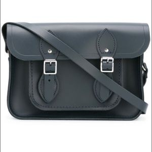 Madewell Handbags - Navy Cambridge Satchel Co. Bag