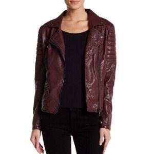 Blank NYC Jackets & Blazers - BLANK NYC Frankenstorm Oxblood Moto Jacket