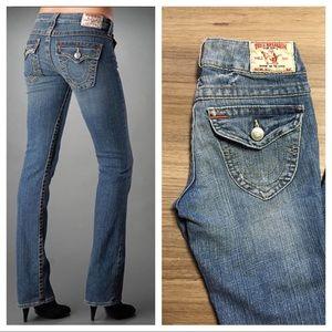 True Religion Denim - True Religion Light Wash Billy Straight Leg Jeans