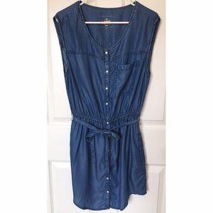 YMI Dresses & Skirts - YMI Denim Shirt Dress Size L