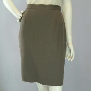 Armani Collezioni Dresses & Skirts - Armani Le Collezioni Taupe Wool Pencil Skirt Sz 6