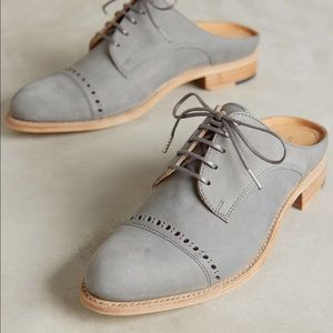 Anthropologie Shoes - Anthropologie gray slides