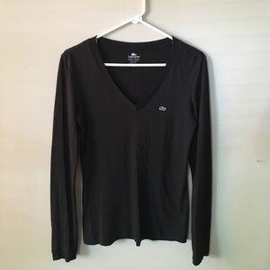 Long sleeve black Lacoste shirt