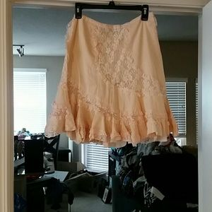At Last Dresses & Skirts - Adorable boho lace skirt