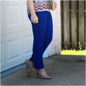 Loft scuba ankle pants Julie fit