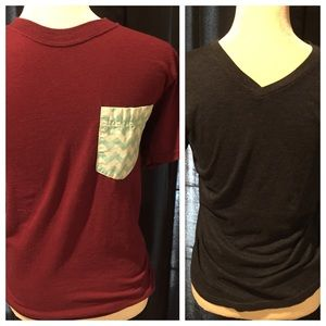 Other - 2 comfy t-shirts both small burgundy and blue