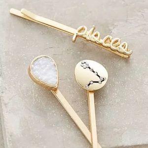 NWT Anthro Pisces bobby pin trio zodiac astrology