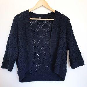 Alfani Sweaters - Navy blue drape cardigan by Alfani