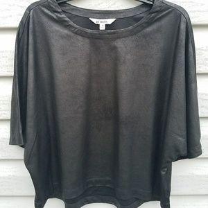 BB Dakota Tops - BB Dakota faux suede dolman sleeve  black crop top