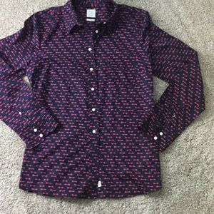 GAP fitted boyfriend button down large.