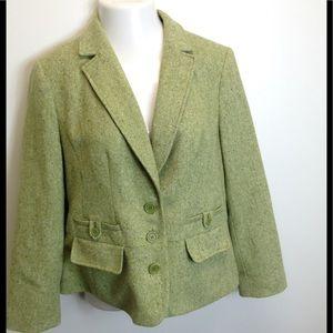 Lane Bryant Jackets & Blazers - ➕ PLUS 14 Spring Green Tweed Lined Blazer