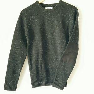 Frank & Oak Other - NWOT Frank + Oak Black Elbow Patch Sweater