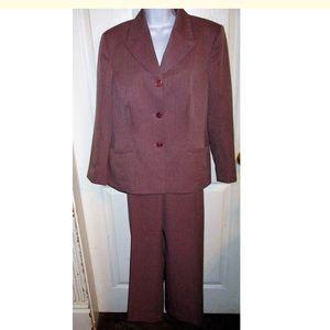 Le Suit Pants - Le Suit Gorgeous Mauve Pantsuit SZ 16P