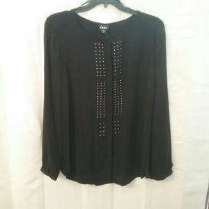 Simply Emma Tops - NWT Women's Plus  Black Blouse Final Price