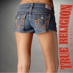 True Religion Pants - True Religion Billy Super-T Denim Shorts