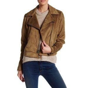 Lucky Brand Faux Suede Asymmetric Moto Jacket