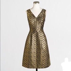 J. Crew Dresses & Skirts - SALE ⭐️ Metallic gold dot print jacquard dress ⭐️
